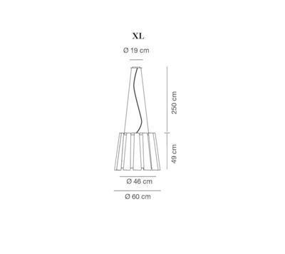 TWIST - závěsná lampa, průměr 60 cm bílá - 2