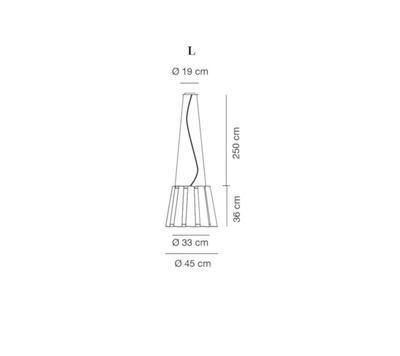TWIST - závěsná lampa, průměr 45 cm černá - 2