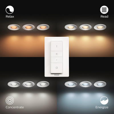 Adore hue recessed chrome 3x5W 230V - 3
