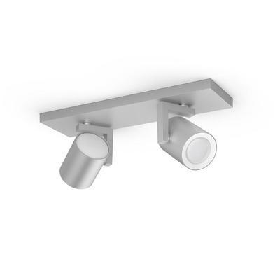 Argenta plate/spiral aluminium 2x5.7W - 3