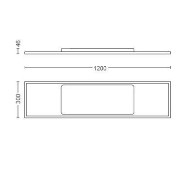 Aurelle ceiling lamp white 55W 230V - 3