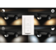 BUCKRAM bar/tube black 2x5.5W 240V - 3/5