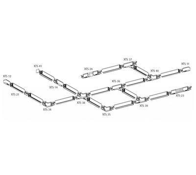 Napájení středové GLOBAL Trac N/A  XTS14-3 Bílá - 3