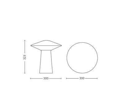 Phoenix-LED-table lamp-Opal white 3115431PH - 3
