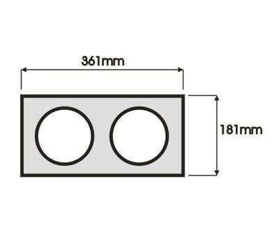 Podhledový rámeček AR111  dvojitý bílá barva - 3