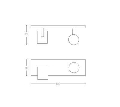 Runner Hue bar/tube black 2x5.5W 5309230P7 - 3