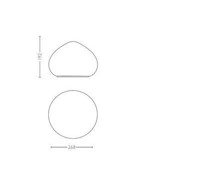 Wellner Hue table lamp white 1x9.5W 4440156P7 - 3