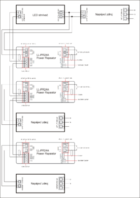 LL - PR24A jednokanálový zesilovač signálu 1x24A  - 3