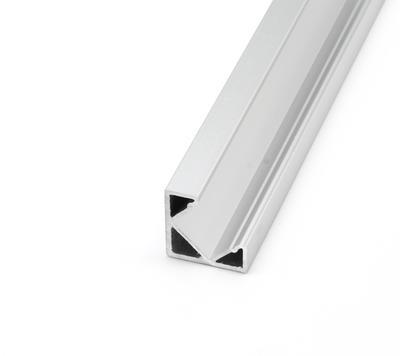 ALU profil rohový 18,5x18,5 délka 1m krytka mat - 4
