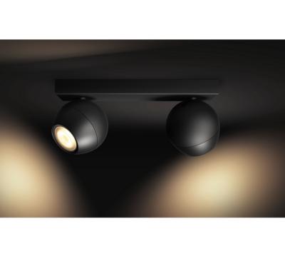 BUCKRAM bar/tube black 2x5.5W 240V - 4