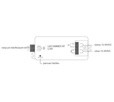 Přijímač a stmívač RF LL 8A - 4