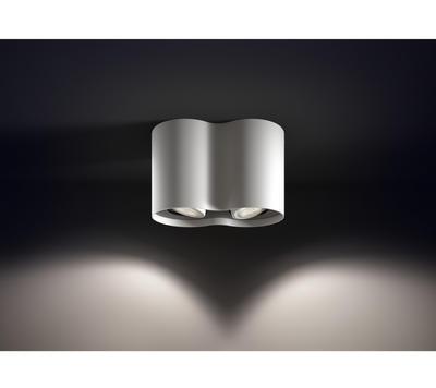 Pillar Hue plate/spiral white 2x5.5W 5633231P7 - 5