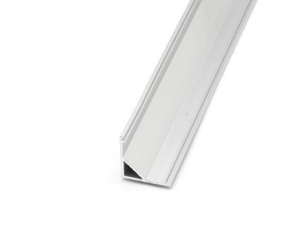 ALU rohový 16x16 délka 1m krytka mat oválná - 6